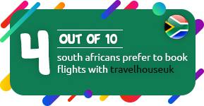 4 out of 10 South Africans prefer to book flights with Travelhouseuk