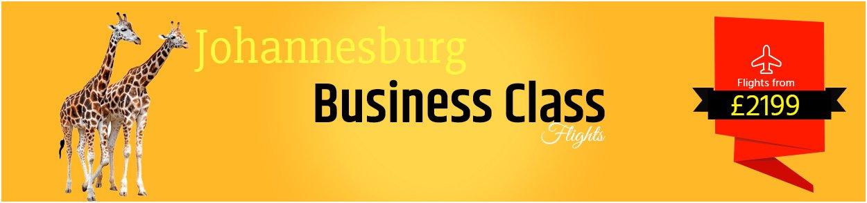 Johannesburg Business Class flights