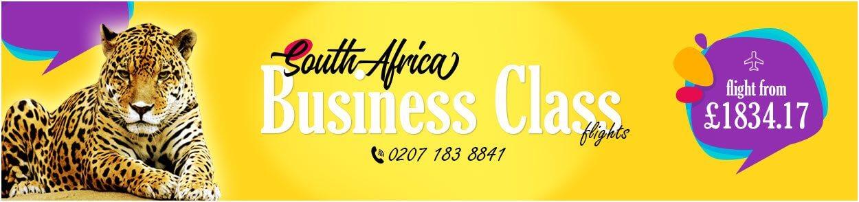 South Africa Business Class flights