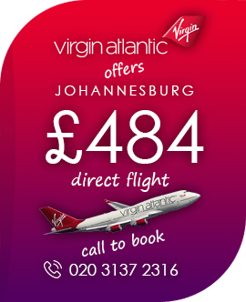 Direct flight to Johannesburg Africa with Vigin Alantic