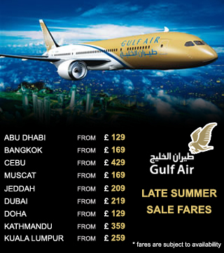 Gulf Air offers from London
