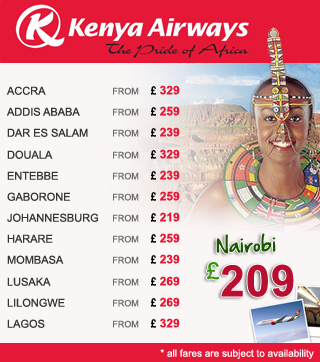 Kenya Airways flights from London