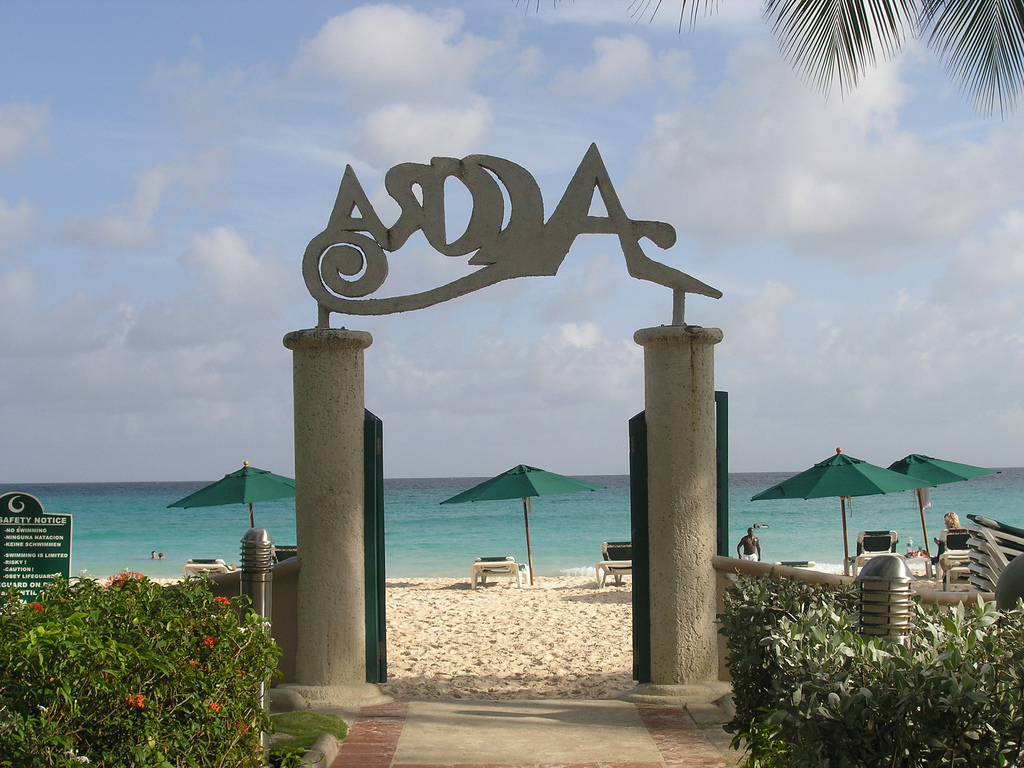 Entrance to Accra Beach, Barbados