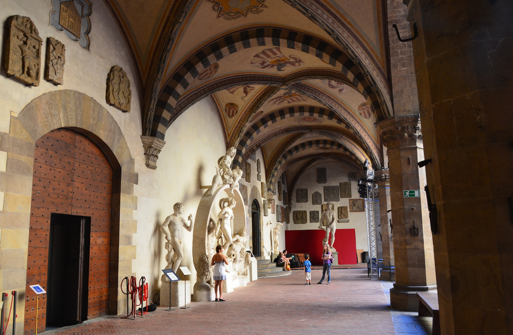 Gallery of interior courtyard, Bargello, Florence