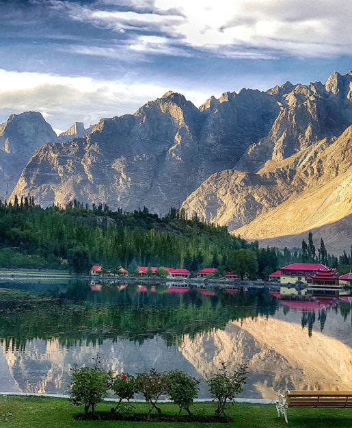 Mountain in a beautiful valley of Skardu in Pakistan