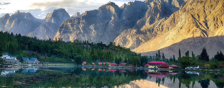 Mountain in a beautiful valley of Skardu in Pakistan