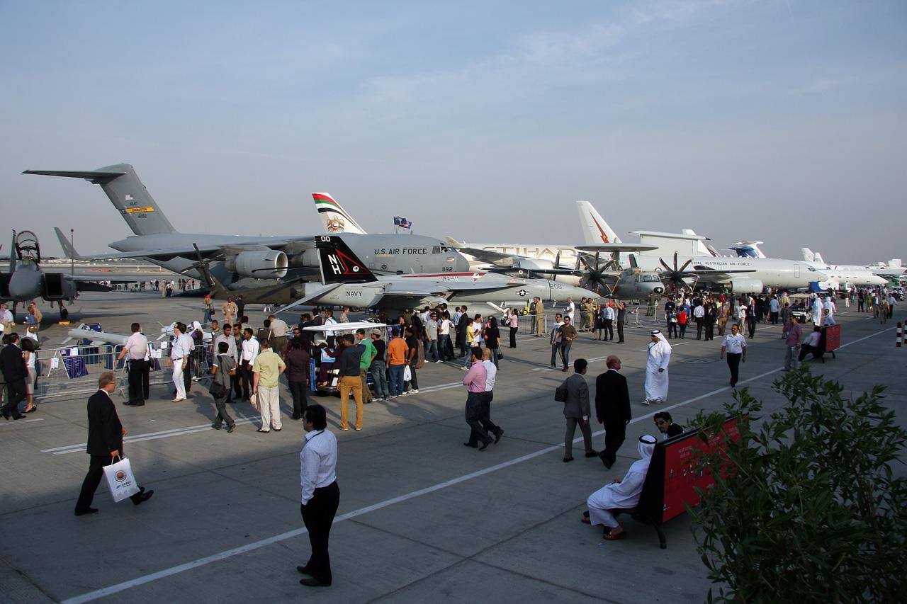 Dubai AirShow Planes Exhibition UAE