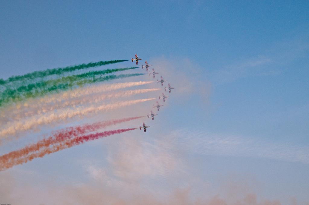 Planes flying at Dubai AirShow UAE