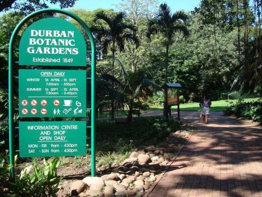 Durban Botanical Gardens Entrance South Africa