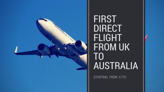 The direct UKto Australia flights