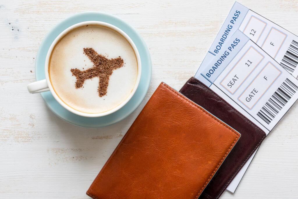 Coffee, Passport, Airplane