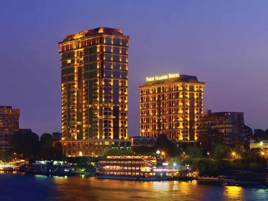 Four Seasons Nile Plaza Hotel Cairo Nightview