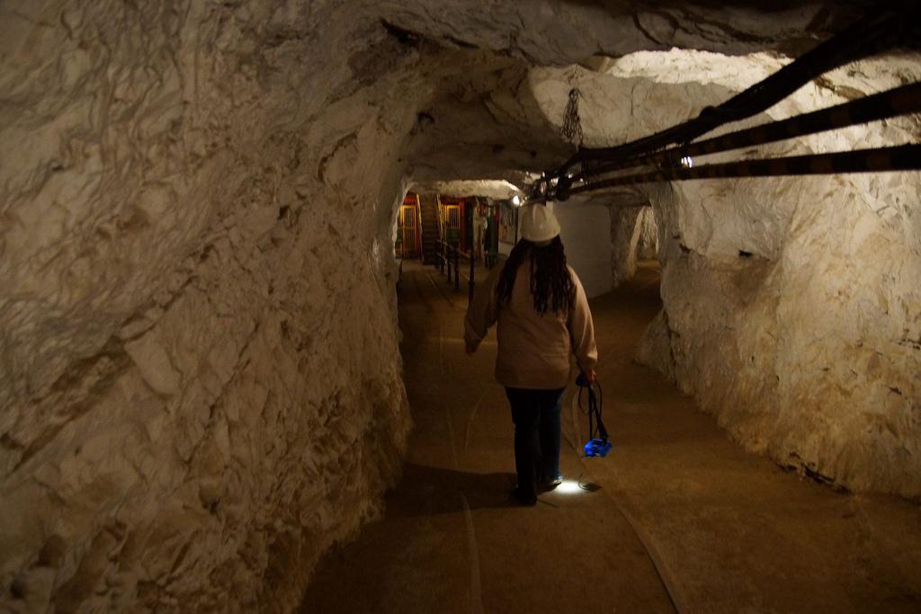 Underground mine tour at Gold Reef City