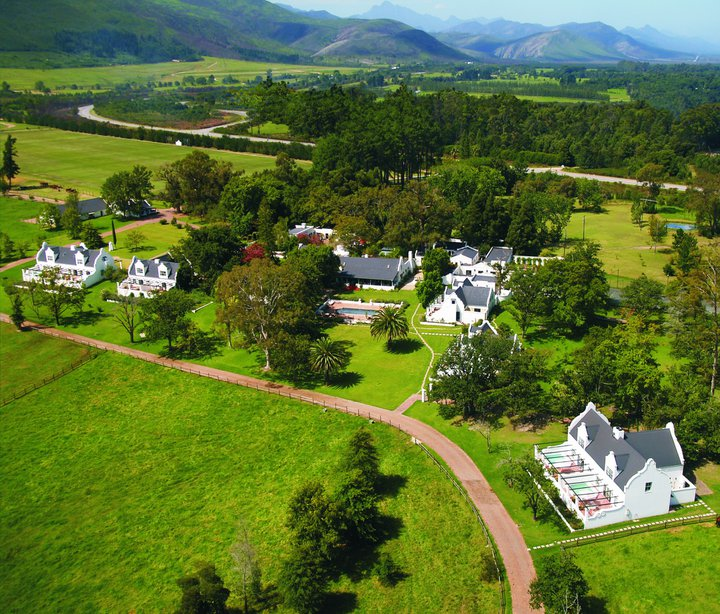 Ariel view of Kurland Hotel South Africa