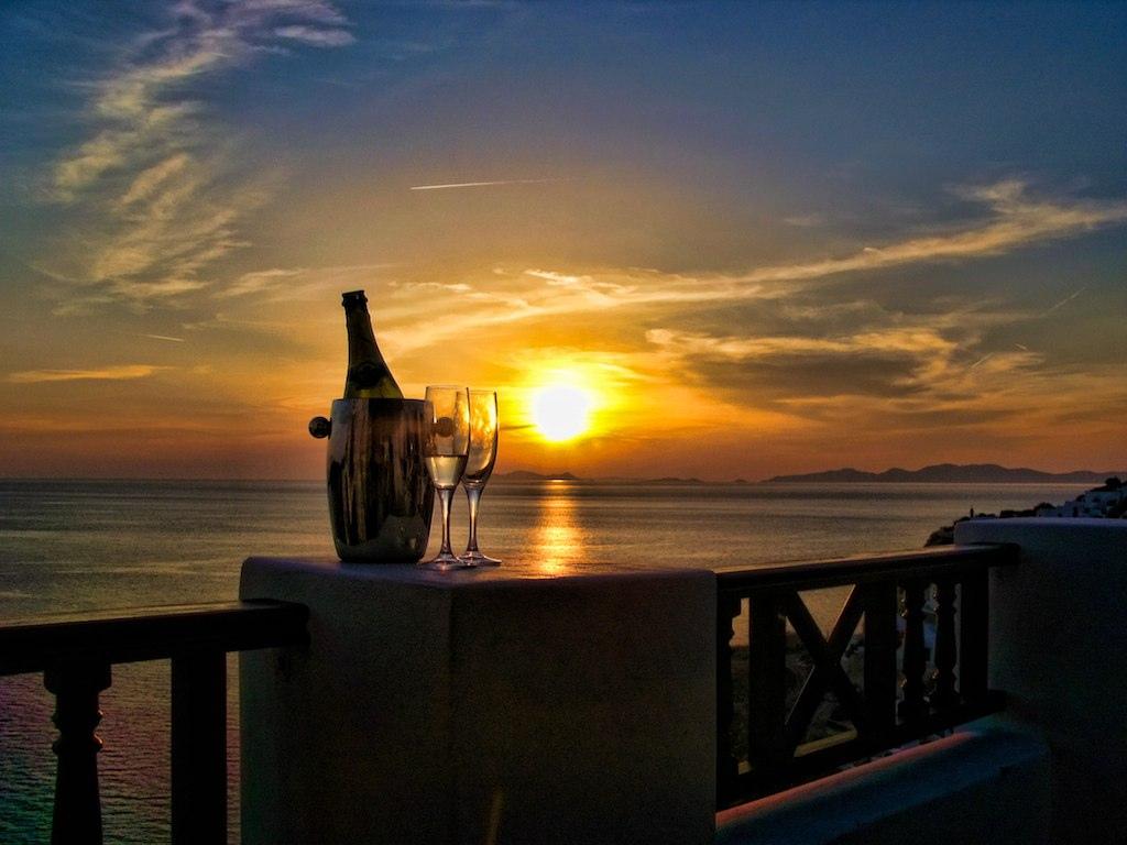 Oia Castle Hotel, Santorini sunset