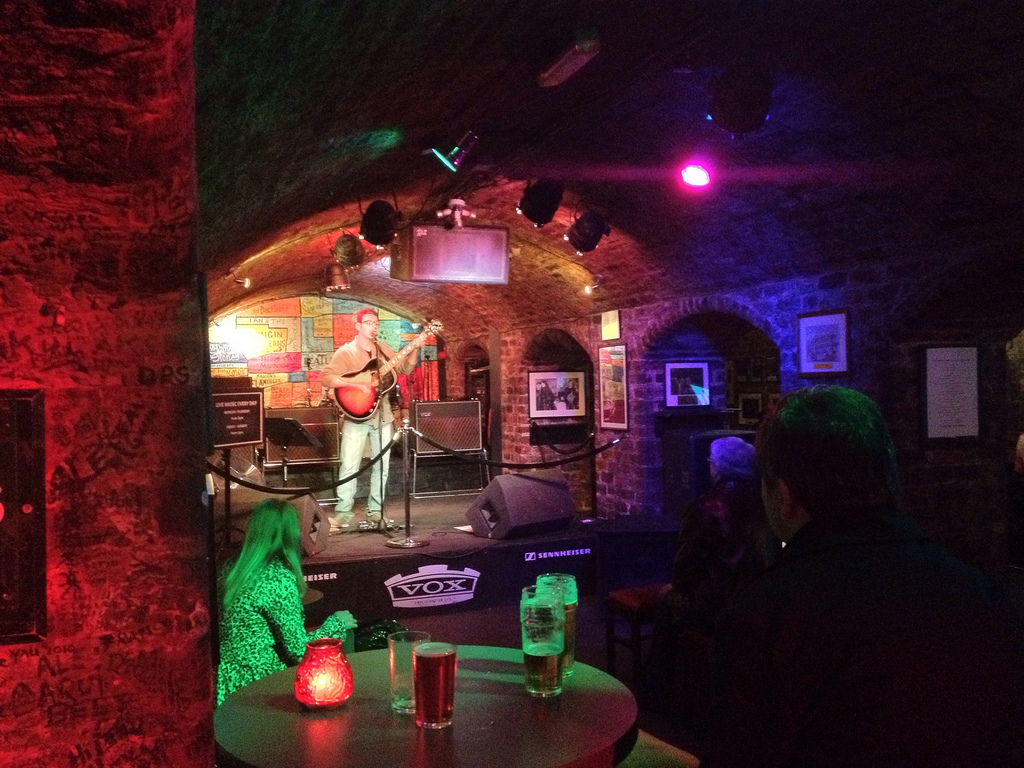 Singer is performing at The Cavern Club Liverpool