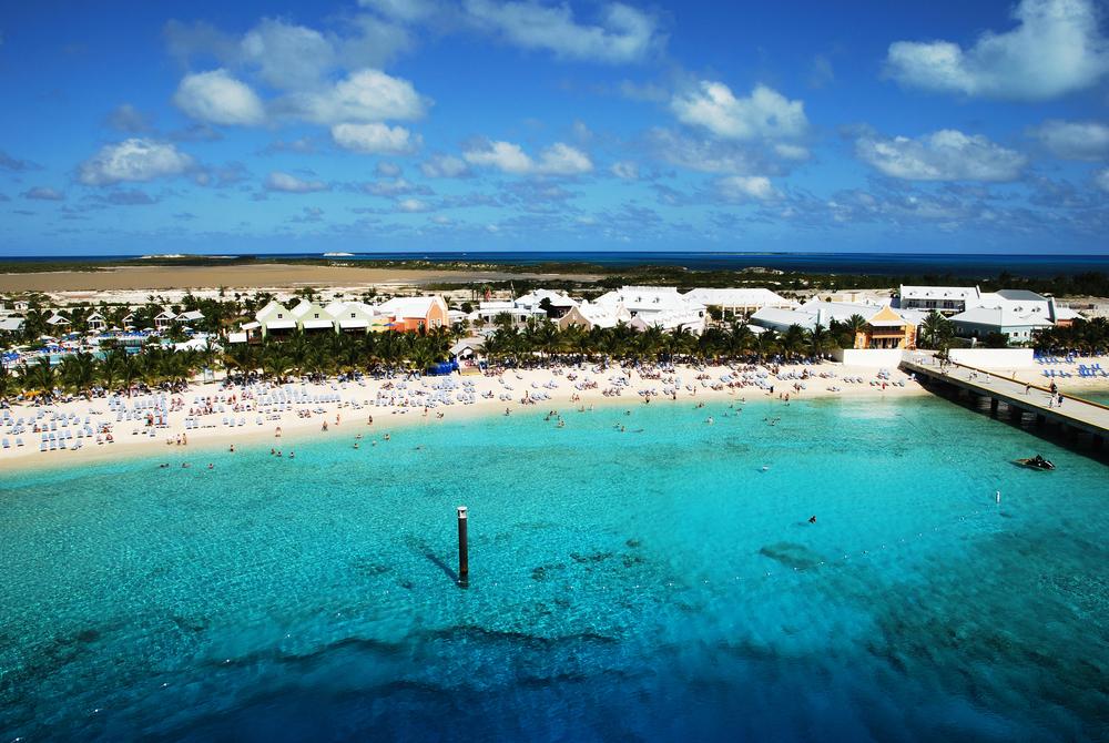 Cruise ship terminal on Grand Turk island, Turks & Caicos.