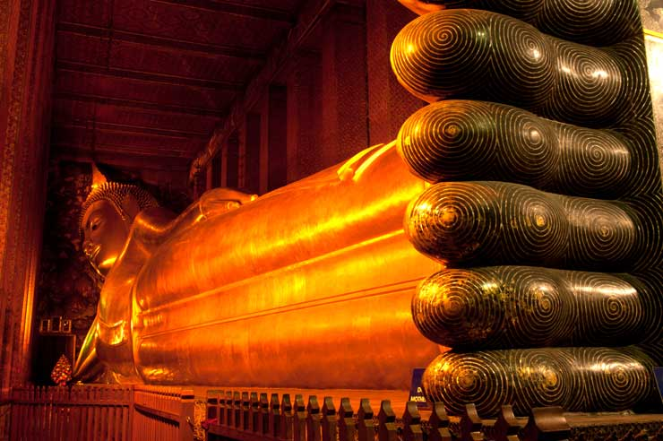 Golden Reclining Buddha within Wat Pho Thailand