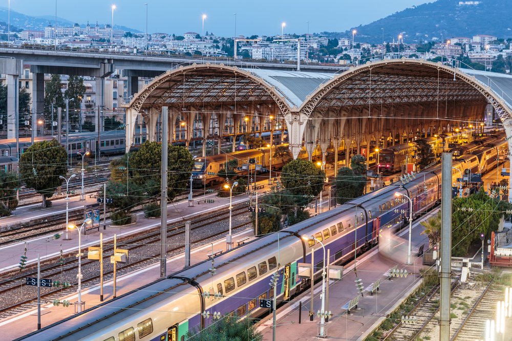 train station at nice in france
