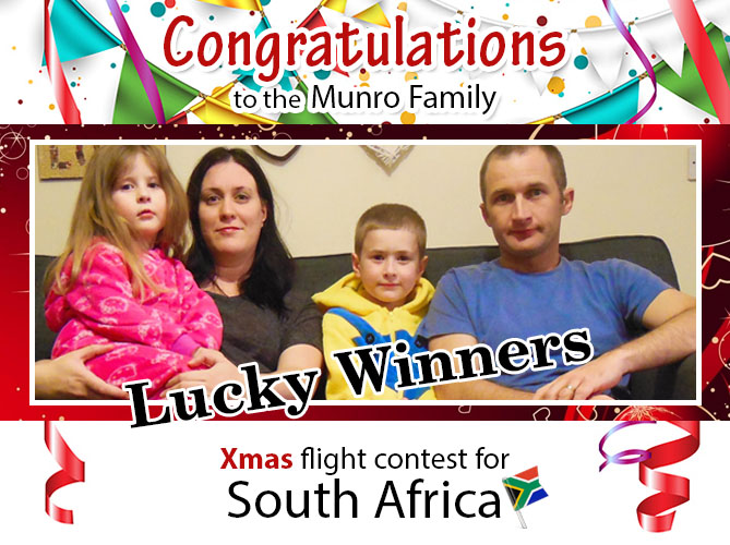 wins FREE air tickets to South Africa