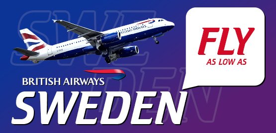 Cheap Flight to Sweden with British Airways