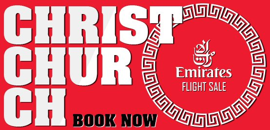 Cheap Flight to Christchurch with Emirates Airlines