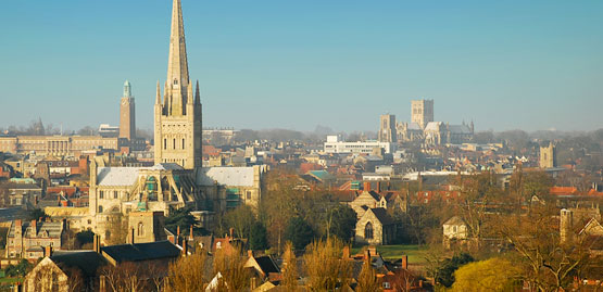 Cheap flights to Norwich